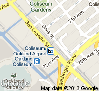 Coliseum/Oakland Airport Station Map