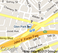 Glen Park Station Map