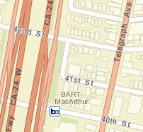 MacArthur Station Area Map