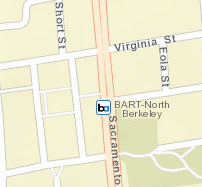 North Berkeley Station Area Map