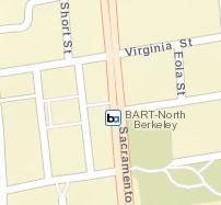 North Berkeley Station Map