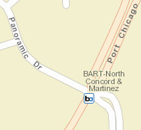 North Concord / Martinez Map