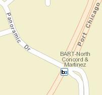 North Concord / Martinez Station Area Map