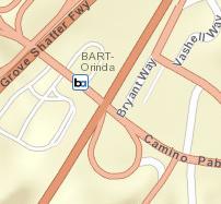 Orinda Station Area Map