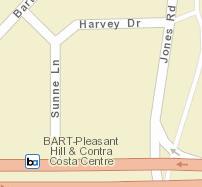 Pleasant Hill / Contra Costa Centre Station Area Map