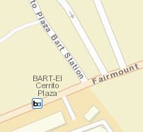 El Cerrito Plaza Station Map