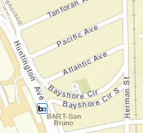 San Bruno Station Map