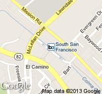 South San Francisco Station Map