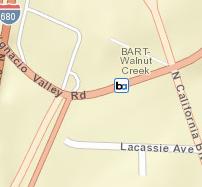 Walnut Creek Station Map