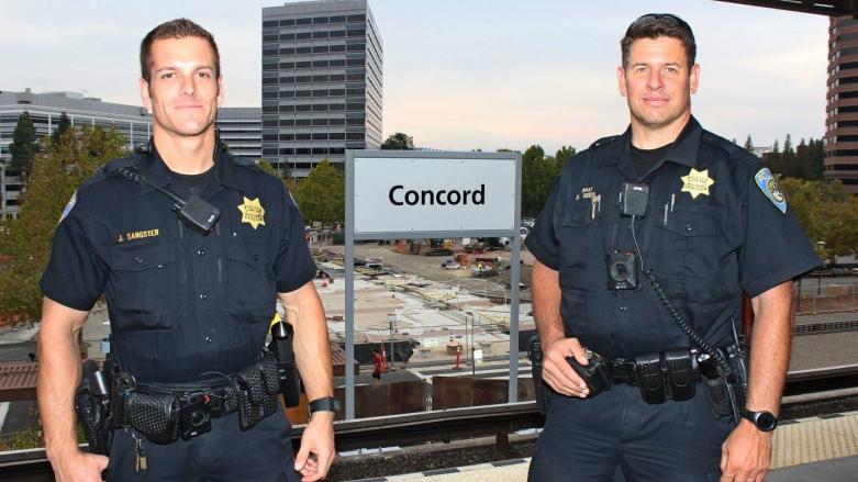 BPD patrol at Concord Station