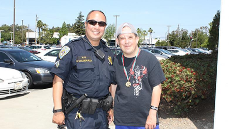 BART Officer and Special Olympic Athlete