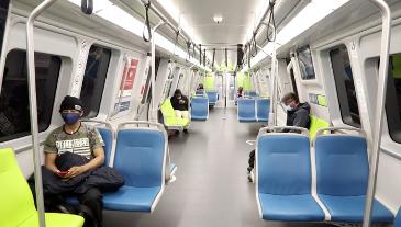 Social distancing on board train